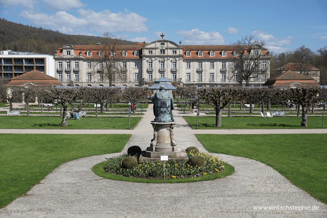 Schlosspark im Staatsbad Bad Brückenau. Basenfasten im Hotel Regena