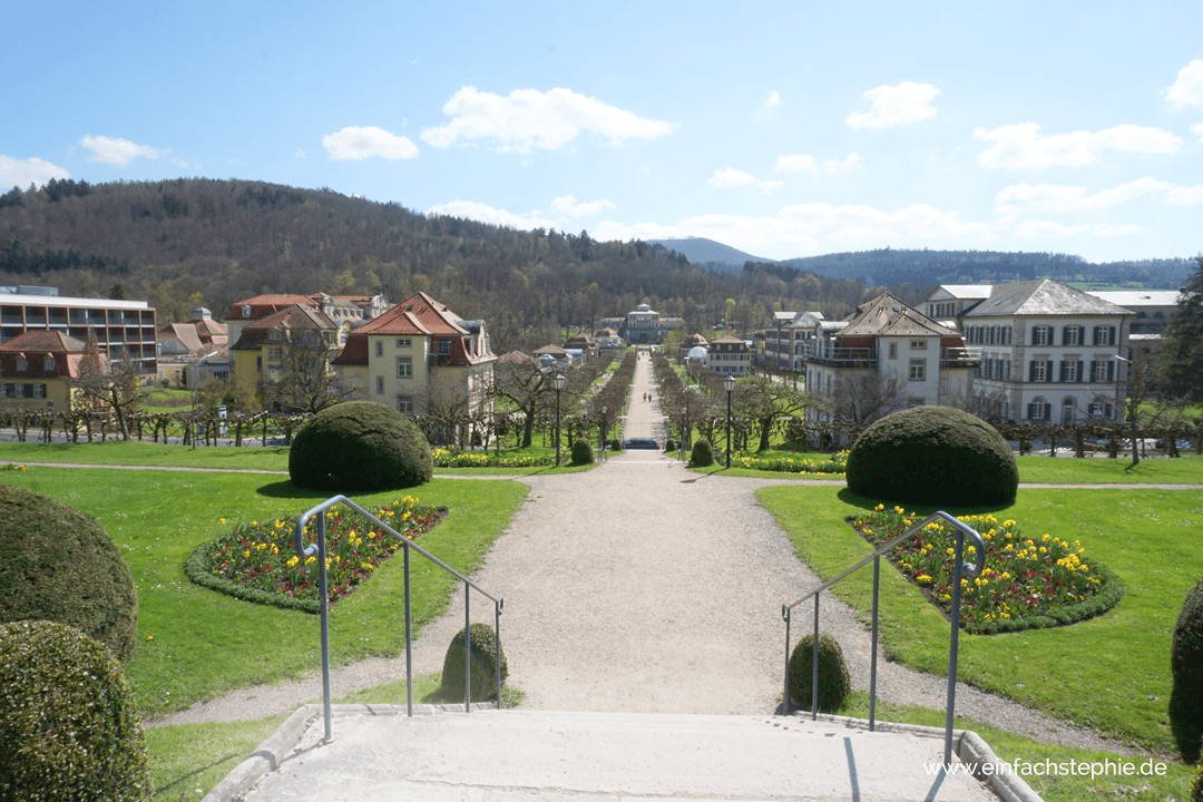 Wunderschöner Blick aufs Staatsbad Bad Brückenau