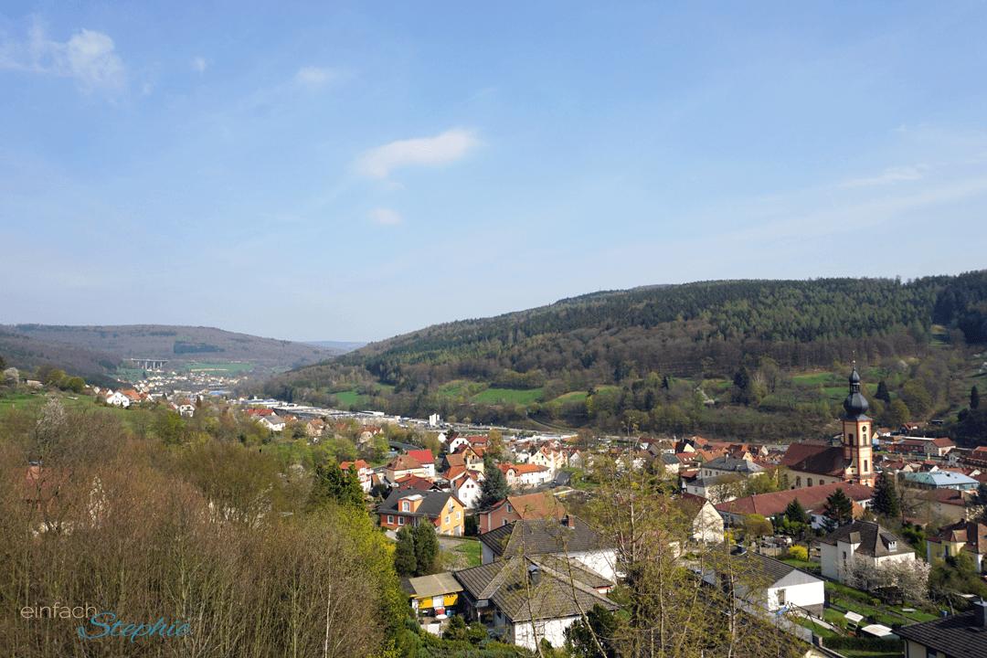Zum Basenfasten in Bad Brückenau. Blick auf die Stadt