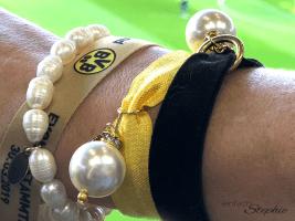 Armband BVB einfachStephie schwarz-gelb