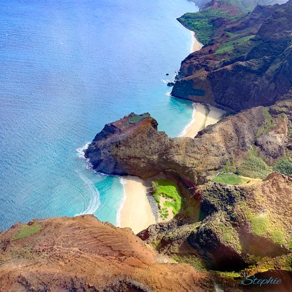 Hawaii von oben. Helikopter Flug über Kauai mit einfachStephie