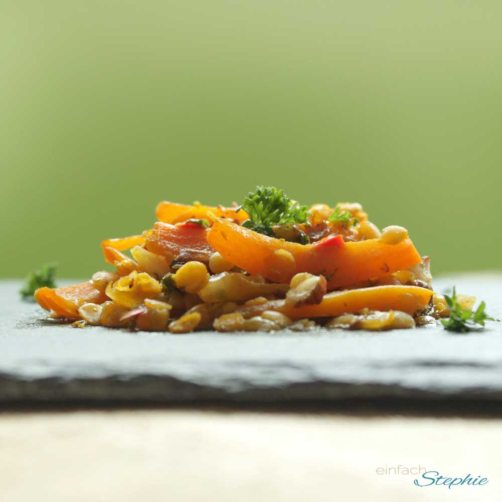Möhrencurry mit roten Linsen von einfach Stephie