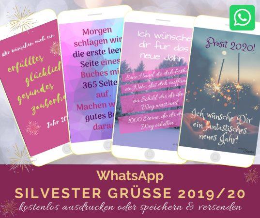 Whatsapp Silvester Grüße fürs neue Jahr. Kostenlos downloaden bei einfachstephie.de