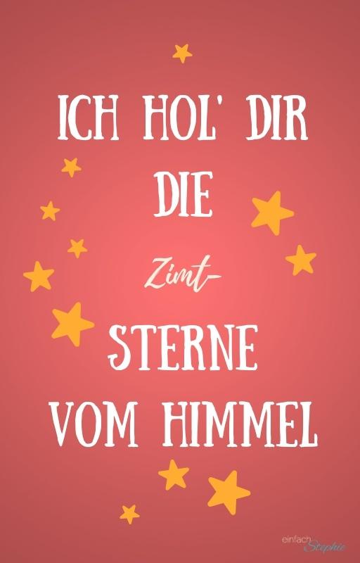 WhatsApp Weihnachtskarte Zimtsterne kostenlos downloaden bei einfachstephie.de