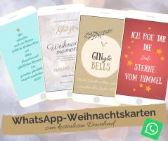 Whatsapp Weihnachtskarten kostenlos downloaden bei einfachstephie.de