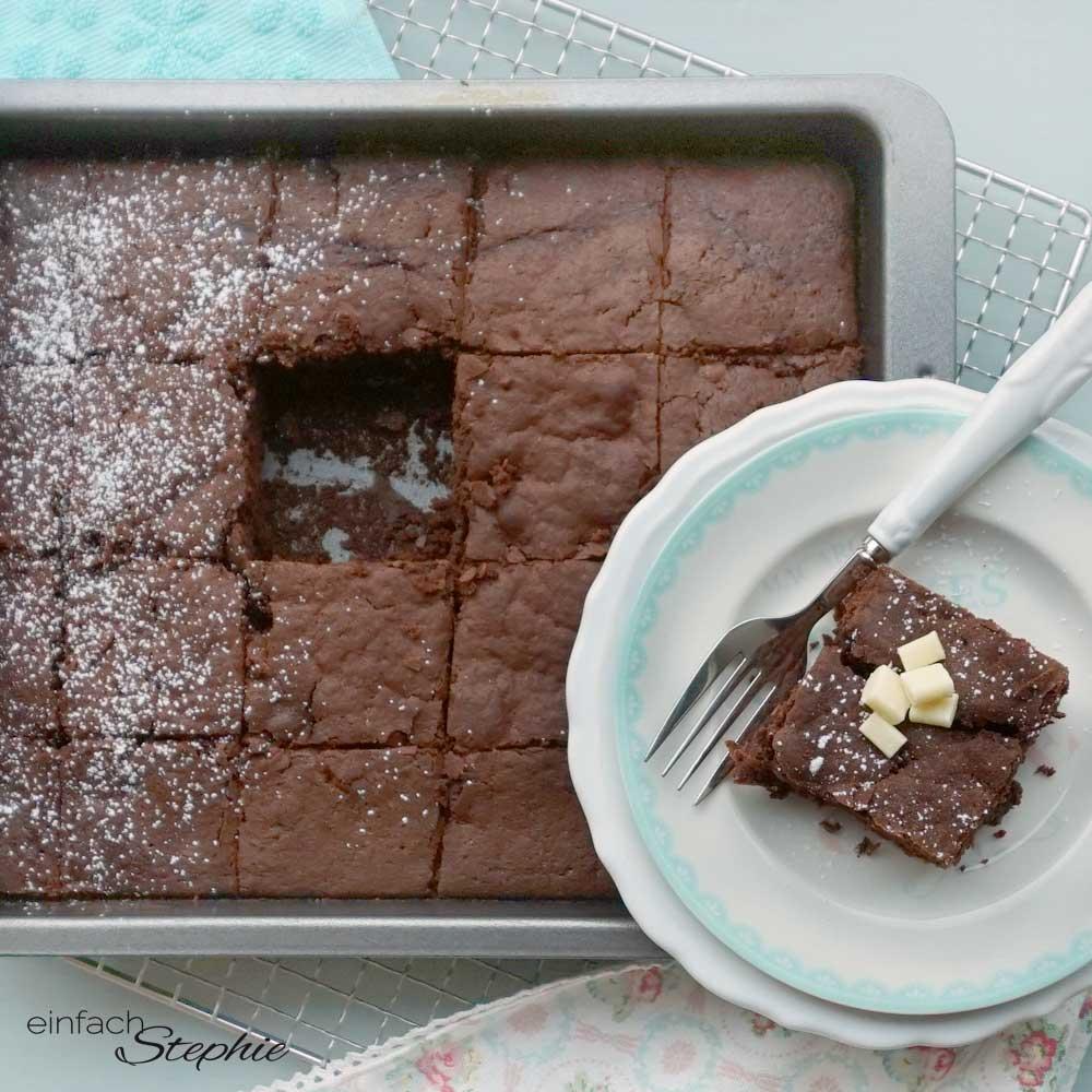 Unser bestes Brownies Rezept ohne Ei, vegan