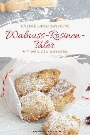Walnuss-Rosinen-Taler schnelle Kekse von einfachstephie.de