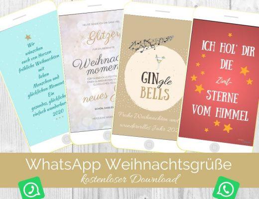 WhatsApp Weihnachtskarten kostenloser Download. Titelbild