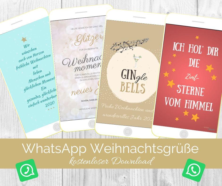 Whatsapp Weihnachtsgrüße Zum Gratis Download Einfach Stephie