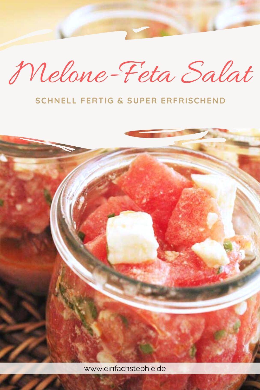 Melone-Feta-Salat der Sommersalat von einfachStephe.de