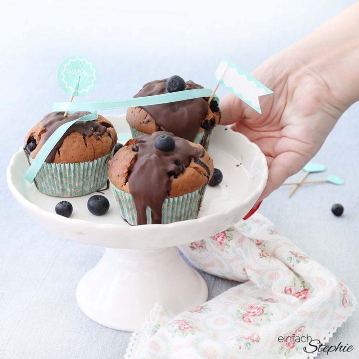 Blueberry Muffins Heidelbeer-Muffins mit Buttermilch
