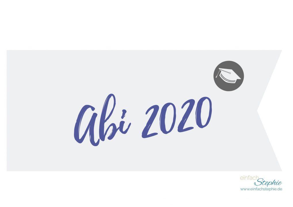 Flagge Fähnchen Abi 2020 (blau violett) gratis Download einfachstephie.de