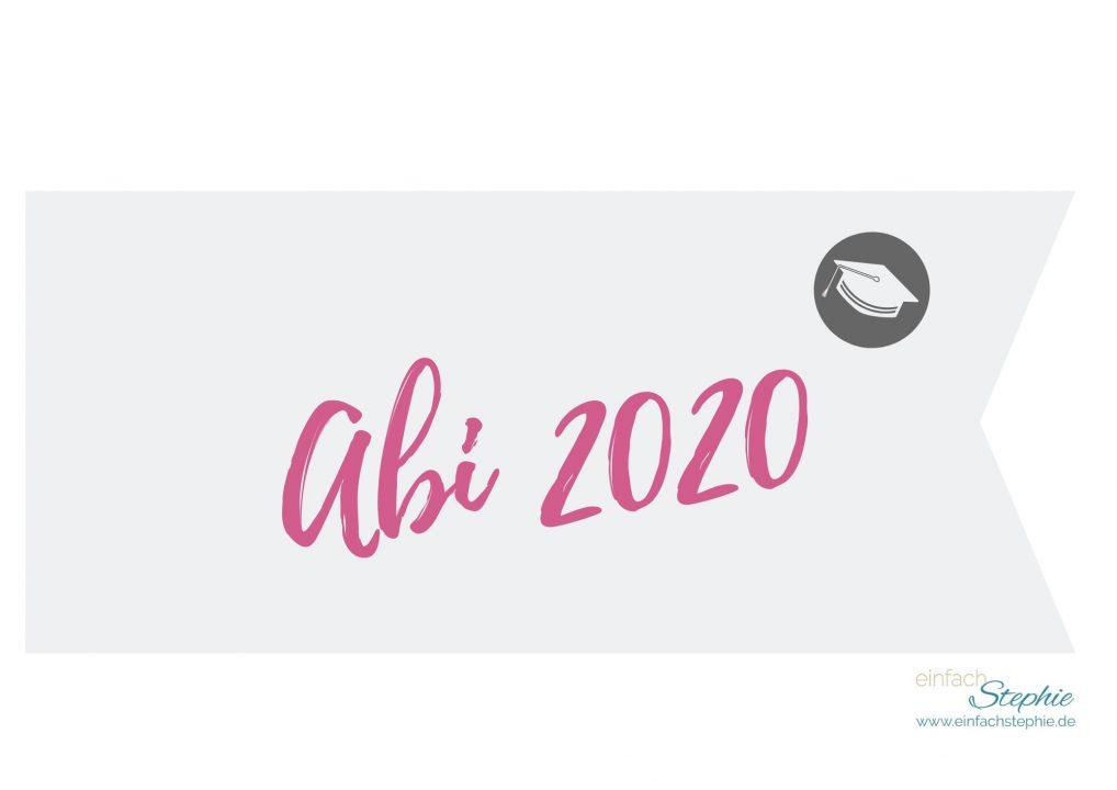 Flagge Fähnchen Abi 2020 (pink) gratis Download einfachstephie.de