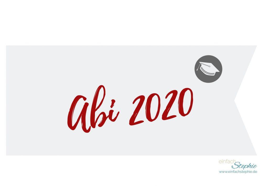 Flagge Fähnchen Abi 2020 (rot) gratis Download einfachstephie.de