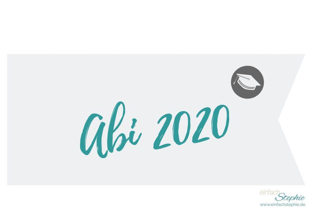 Flagge Fähnchen Abi 2020 (türkis) gratis Download einfachstephie.de