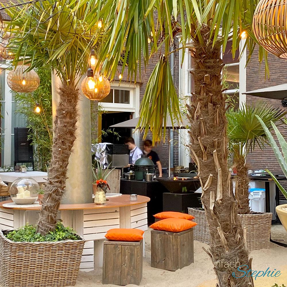 Corona Urlaub 2020 in Holland. Beach Restaurant mitten in der Stadt Amsterdam