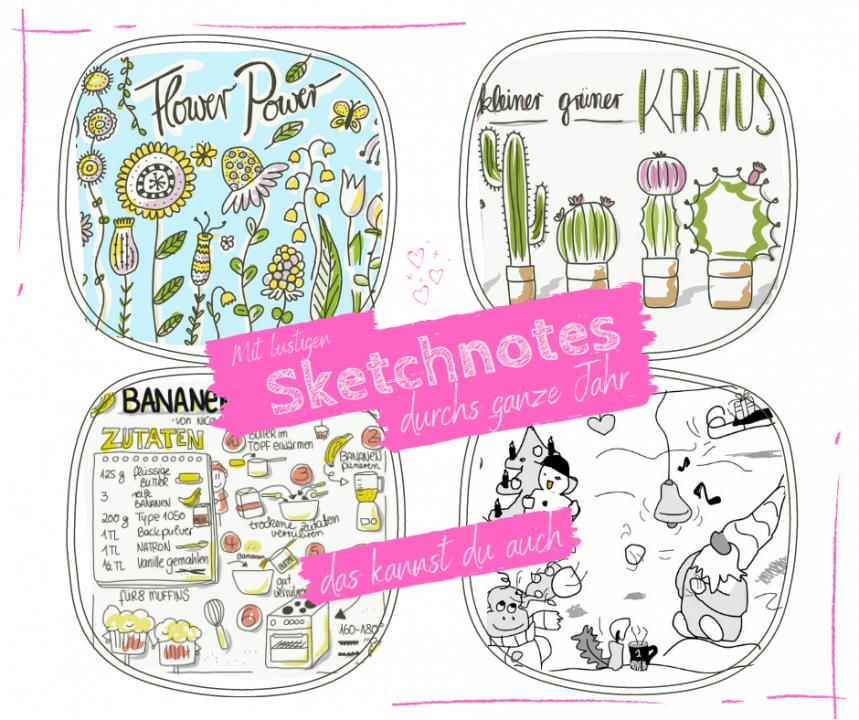 Sketchnotes einfach zeichnen lernen - tolles Hobby ruckzuck lernen