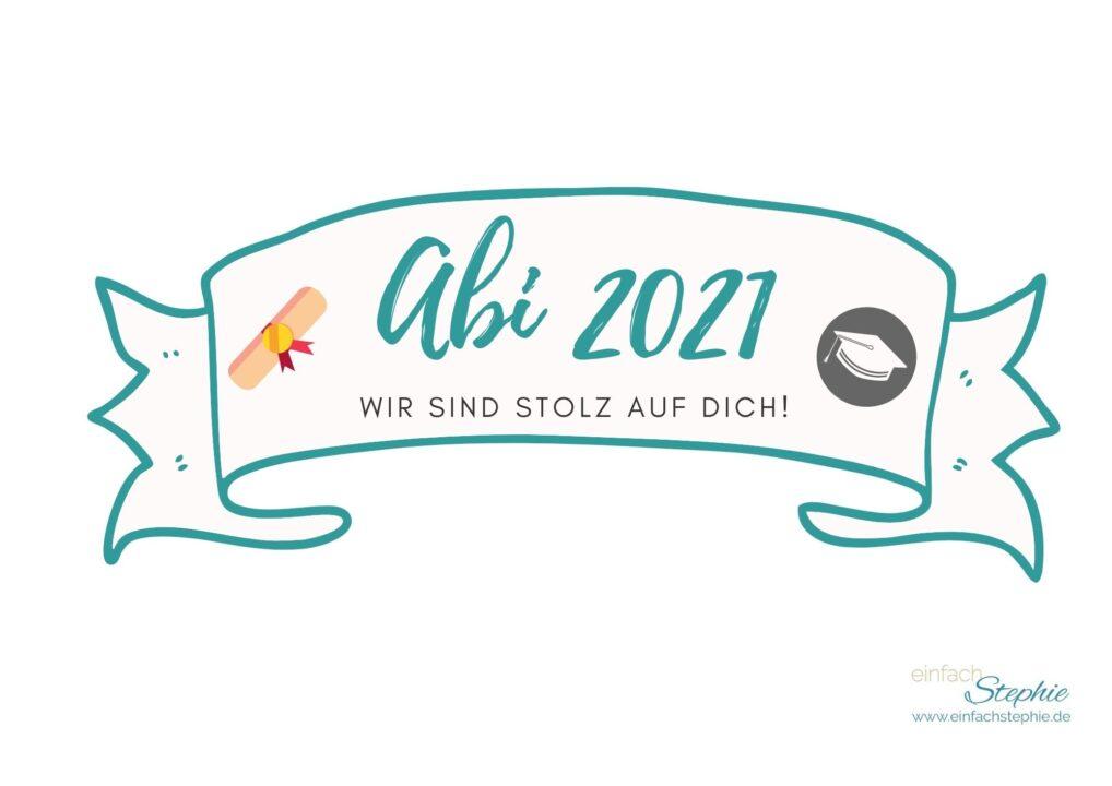 Caketopper Kuchenbanner kostenlos ausdrucken Abi 2021